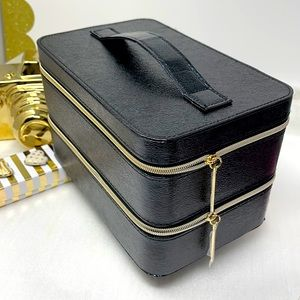 Lancome Makeup Lined Zippered Train Case